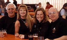 Alt-Bürgermeister Udo Grün, Sylvia Wagner, Vera Jung, Alt-Landrat Bernd Röttger (v.l.)