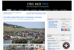 14th Edition Magic Bike Event in Ruedesheim, Germany. (Cyril Huze Post, 12.06.2015)