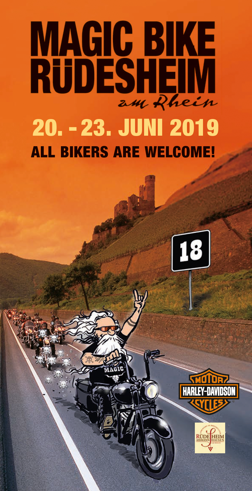 Magic Bike Rüdesheim 2019 Programmflyer